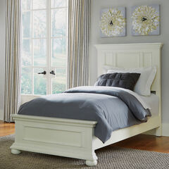 Dover White Twin Bed,