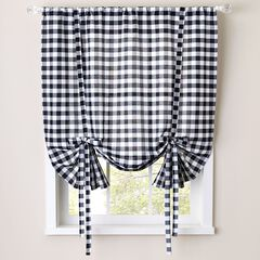 Buffalo Check Tie Up Window Shade
