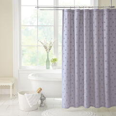 Georgia Chenille Shower Curtain, LAVENDER GRAY