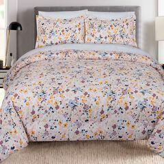 Floral Splatter Comforter Set,