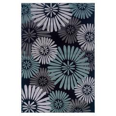 Milan Black/Aqua 5'X8' Area Rug,