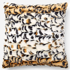 Animal Print Faux Fur Pillow Covers,