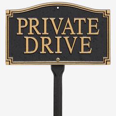 Private Drive Statement Plaque,