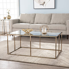 Nicholance Contemporary Glass-Top Cocktail Table,
