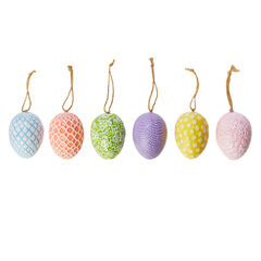 Decorative Easter Eggs, Set of 6, ASSORTED