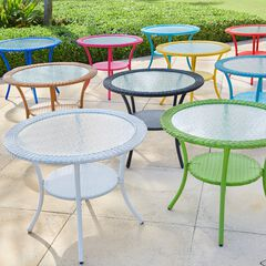 Roma All-Weather Resin Wicker Bistro Table,