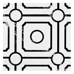 Retro 12x12 Self Adhesive Vinyl Floor Tile - Carrera - 20 Tiles/20 sq. ft.,