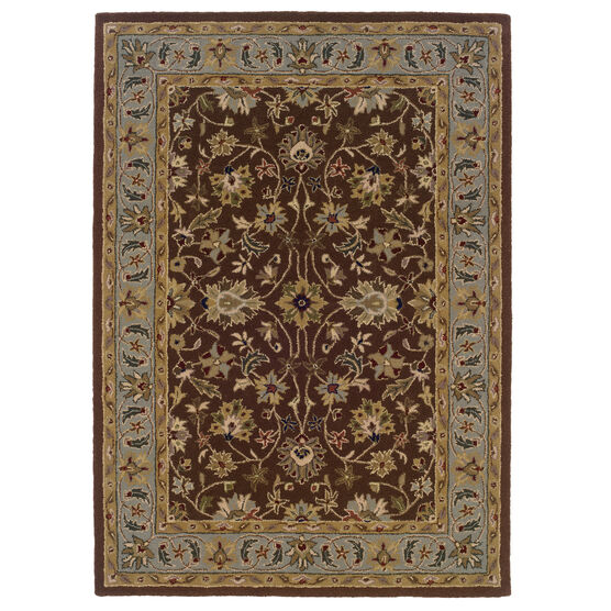 Trio Brown 5'X7' Area Rug, BROWN