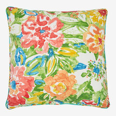 "20""Sq. Toss Pillow, POPPY GREEN"