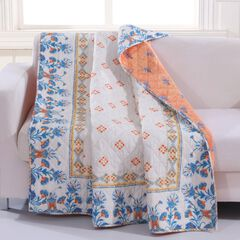 Barefoot Bungalow Aleena Quilted Throw Blanket,