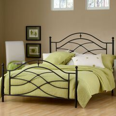 Queen Bed with Bed Frame, 83½'Lx62'Wx52'H,