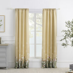 Dandelion Taupe Curtain Panel Pair,