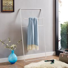 Marvin White Leaning Ladder Towel/Blanket Rack,