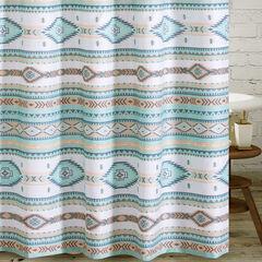 Phoenix Turquoise Bath Shower Curtain,