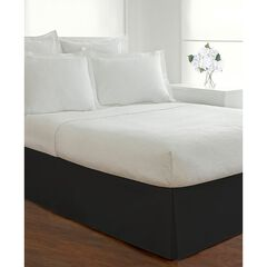 "Today's Home Microfiber Tailored Black 14"" Bed Skirt,"