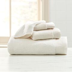 3-Pc. Towel Set + Free Bath Mitt, IVORY