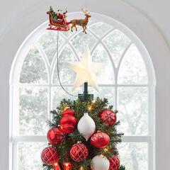 Animated Santa Sleigh Tree Topper,