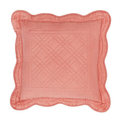 """Florence 16"""" Square Pillow, CORAL"""