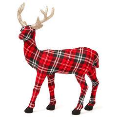 Plaid Standing Holiday Deer,