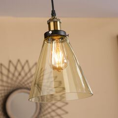 Colored Glass Mini Cone-Shaped Pendant Lamp ,