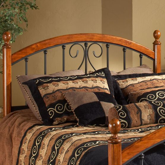 "King Headboard with Headboard Frame, 71½""x77""x54¼"", ANTIQUE BRONZE"