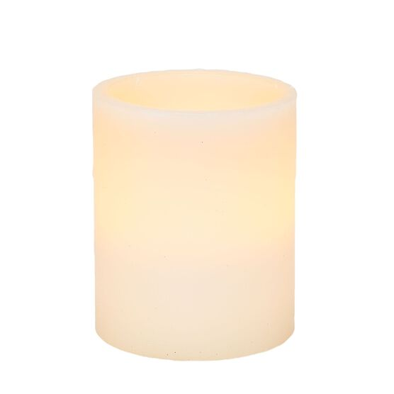 5'Diam. x 6'H Battery Operated LED Candle, IVORY