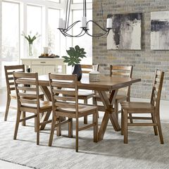 Sedona Brown Dining Table & 6 Chairs,