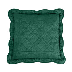 """Florence 16"""" Square Pillow, EVERGREEN"""