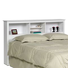 Monterey White Double /  Queen Bookcase Headboard,
