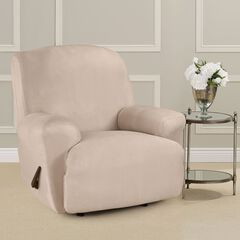 Ultimate Stretch Faux Suede Recliner Cushion Slipcover ,