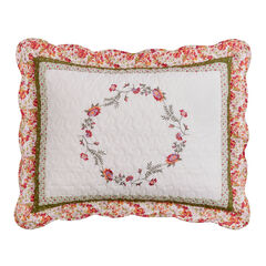 Bernice Embroidered Floral Sham,