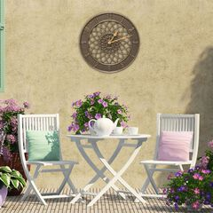 Spiral 14' Indoor Outdoor Wall Clock,