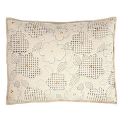 Embroidered Floral Sham,