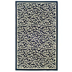 Capri Black/White 5' x 7' Area Rug,