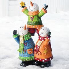 Pre-Lit Snowman Pyramid,