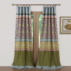 Shangri-La Curtain Panel Pair by Greenland Home Fashions,