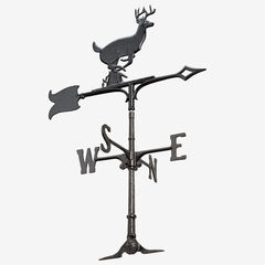 "30"" Buck Accent Weathervane, BLACK"