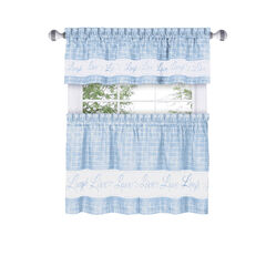 Live, Love, Laugh Window Curtain Tier Pair and Valance Set - 58x24,