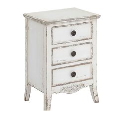 Audrey 3-Drawer Side Table,