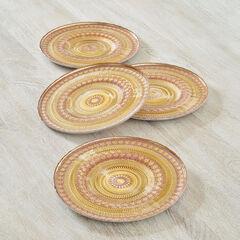 Aria Pattern Plates, Set of 4,