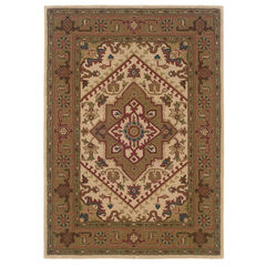 Trio Traditional Ivory 5'X7' Area Rug,