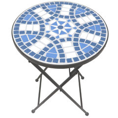 Lori Mosaic Folding Side Table,