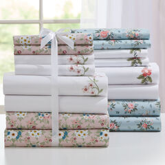 2-Pack Microfiber Sheet Set, SAGE FLORAL