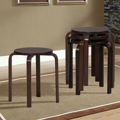 17' Bentwood Stool, Set of 4,