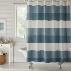 BH Studio Colorblock Waffle Shower Curtain,