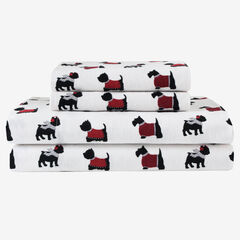Flannel Printed Sheet Set, DOGS