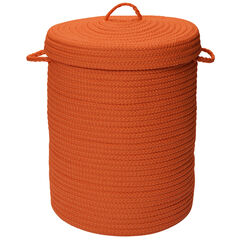 Solid Texture Hamper with Lid,