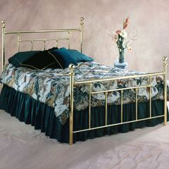 King Bed with Bed Frame, 83½'Lx78'Wx51½H',