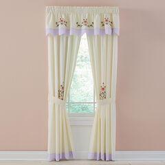 Ava Embroidered Valance, LILAC
