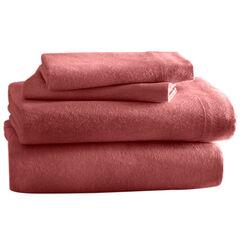 Cozy Cotton Solid Flannel Sheet Sets, GARNET